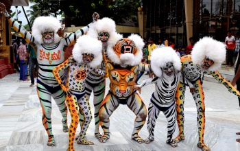 Tiger Dance Mangalore Dasara 2017